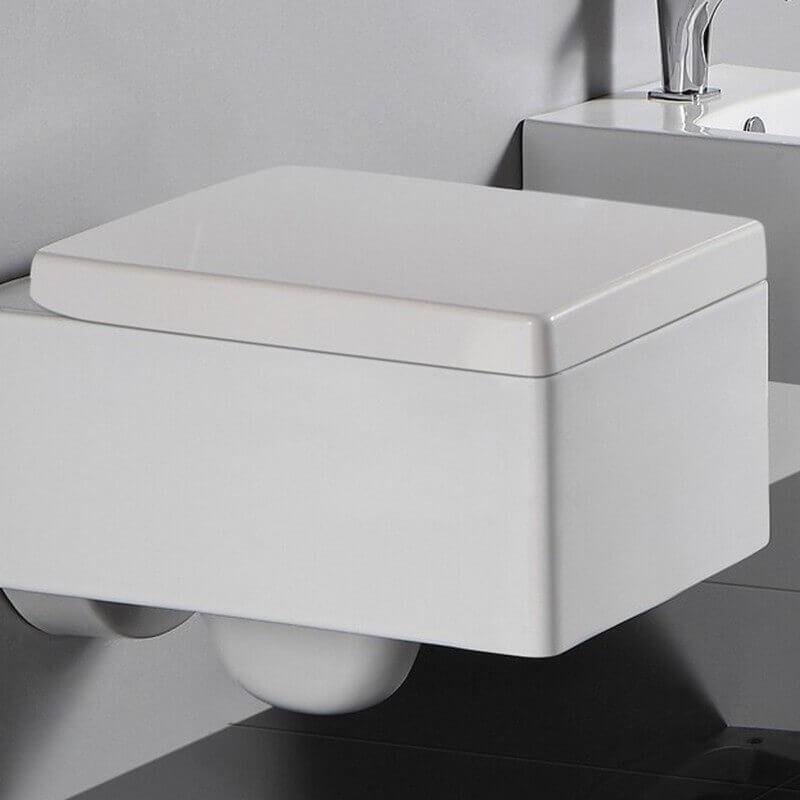 abattant blanc pour wc suspendu kube accessoires wc rue du bain. Black Bedroom Furniture Sets. Home Design Ideas
