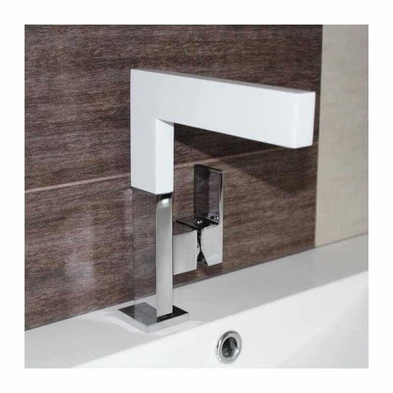 Mitigeur blanc graphic robinet vasque poser et lavabo for Mitigeur design cuisine