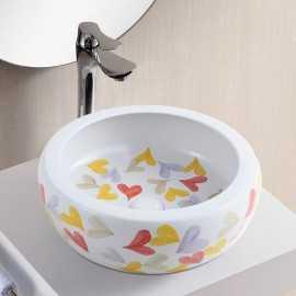 Vasque à Poser Ronde - Céramique Décorée - 42 cm - PEP's