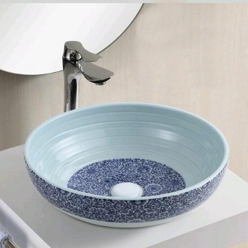 vasque c ramique d cor vintage vasque poser ronde. Black Bedroom Furniture Sets. Home Design Ideas