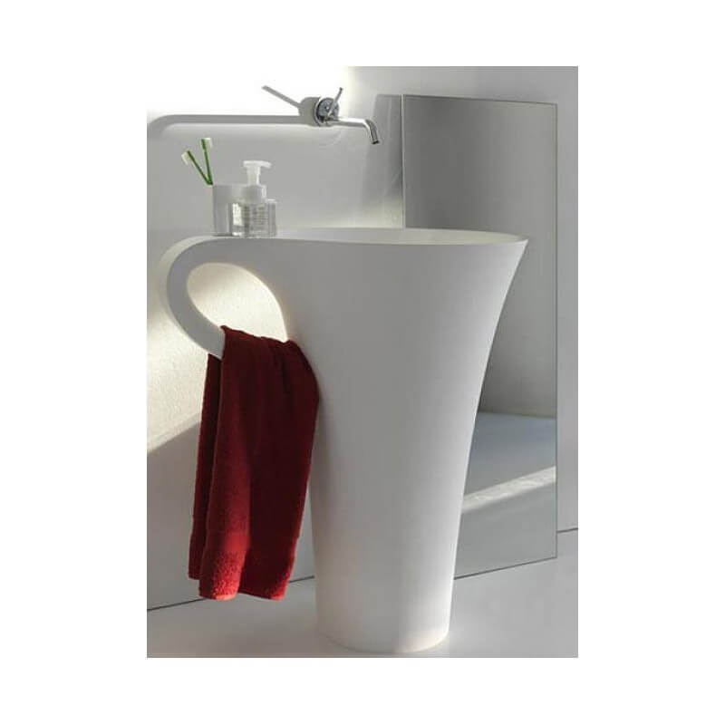 lavabo totem tasse caf composit cup lavabo totem design rue du bain. Black Bedroom Furniture Sets. Home Design Ideas
