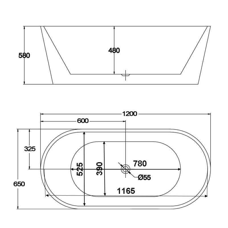 baignoire acrylique blanc rome baignoire ilot ovale. Black Bedroom Furniture Sets. Home Design Ideas