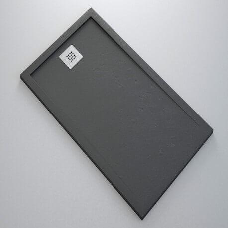 Receveur de Douche extra plat - Solid Surface Anthracite - Extraligt | Rue du Bain