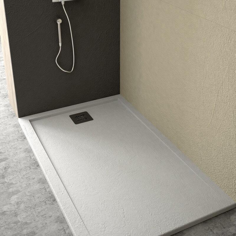 receveur de douche en résine extraplat blanc