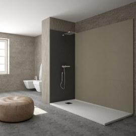 Receveur de Douche extra plat - Solid surface Blanc - Extraligt | Rue du Bain