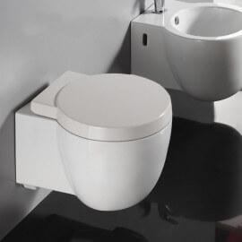 WC Suspendu Compact Blanc avec Abattant Charm | Rue du Bain