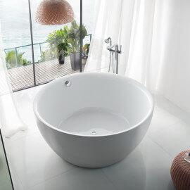 Baignoire ilot Ronde - Acrylique Blanc - 150 cm - Fidji
