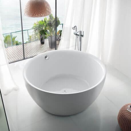 baignoire acrylique blanc fidji baignoire lot ronde rue du bain. Black Bedroom Furniture Sets. Home Design Ideas