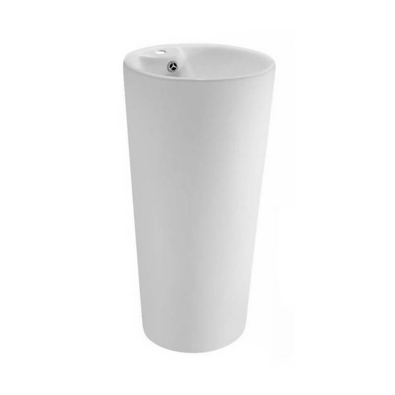 Lave Main Cylindre Céramique Blanc Star Lave Main Totem Rue Du Bain