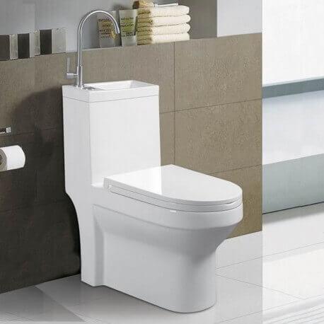 Wc à Poser Monobloc Lave Main Intégré Creativ Wc Toilettes Au Sol