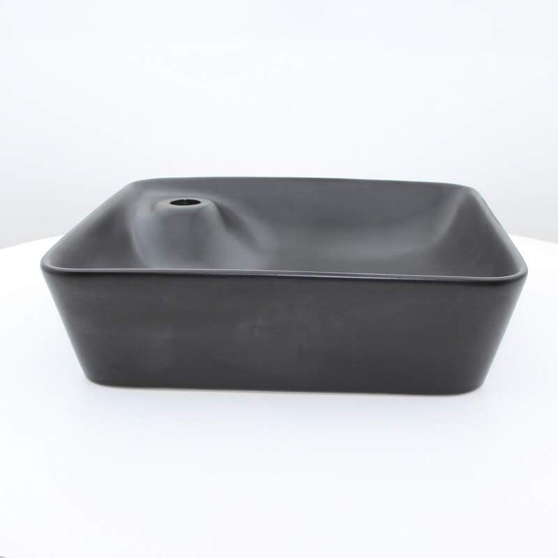 vasque poser carr e noir mat urban vasque noire rue. Black Bedroom Furniture Sets. Home Design Ideas