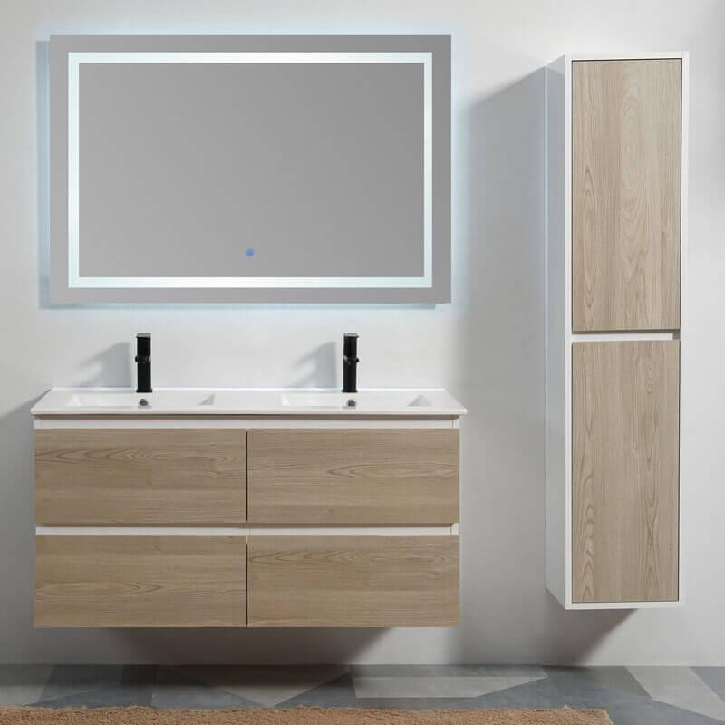 Pack meuble scandinave 4 tiroirs et miroir Classic 120 | Rue ...