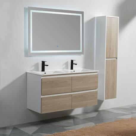 meuble suspendu mdf scandinave meuble sdb double vasque rue du bain. Black Bedroom Furniture Sets. Home Design Ideas