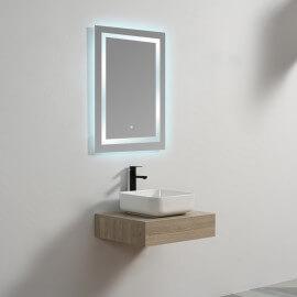 Plan sous vasque - Plaqué couleur Bois - 60x50 cm - Tendance | Rue du Bain