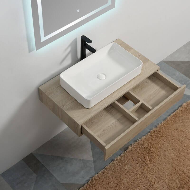 plan sous vasque bois tendance plan salle de bain suspendu rue du bain. Black Bedroom Furniture Sets. Home Design Ideas