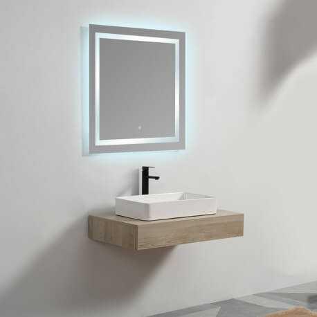 Plan sous vasque - Plaqué couleur Bois - 90x50 cm - Tendance | Rue du Bain