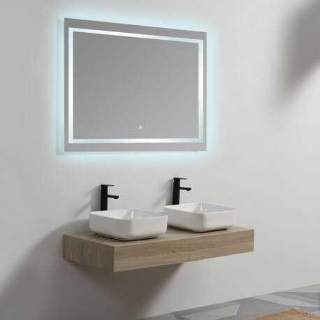 Plan sous vasque - Plaqué couleur Bois - 120x50 cm - Tendance | Rue du Bain