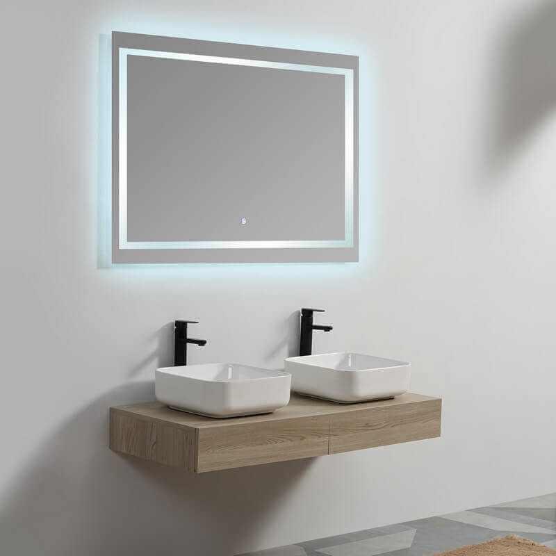 plan sous vasque mdf tiroir suspendu tendance pour 2 vasques. Black Bedroom Furniture Sets. Home Design Ideas