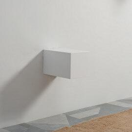 Meuble de Rangement 1 Tiroir - Blanc - 30x50 cm - City