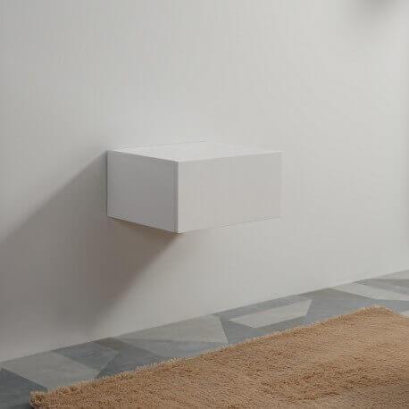 Meuble de Rangement 1 Tiroir - Blanc - 60x50 cm - City