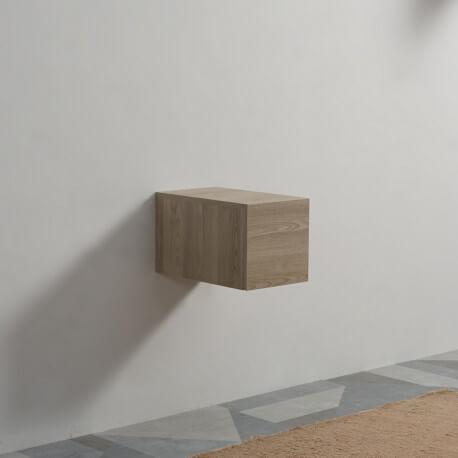 Meuble de Rangement 1 Tiroir - Plaqué en Bois - 30x50 cm - Tendance | Rue du Bain