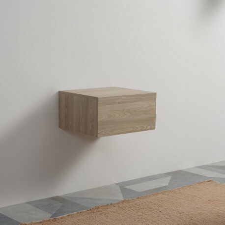 Meuble de Rangement 1 Tiroir - Plaqué en Bois - 60x50 cm - Tendance | Rue du Bain