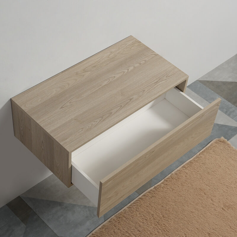 meuble suspendu bois tendance tiroir de rangement rue. Black Bedroom Furniture Sets. Home Design Ideas