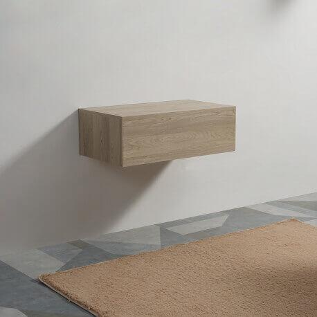 Meuble de Rangement 1 Tiroir - Bois - 90x50 cm -Tendance