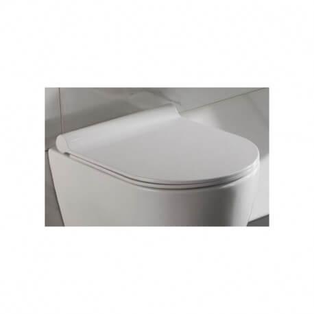 Abattant pour WC Design Suspendu Blanc en duroplastic - Cort
