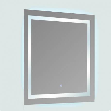 Miroir lumineux de salle de bain Carré - Rétro-éclairage LED - 80x80 cm -  Connec\'t 80