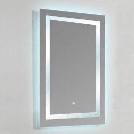 Miroir lumineux de salle de bain Rectangle - Rétro-éclairage LED - 60x80 cm - Connec't 60 | Rue du Bain