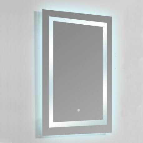 Miroir Lumineux De Salle De Bain Rectangle   Rétro éclairage LED   60x80 Cm