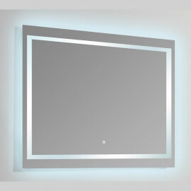 Miroir Rectangle Eclairag Led Allumage Tactile Connec T120 Rue Du Bain