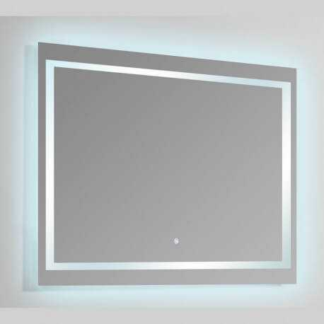 Miroir Rectangle Lumineux Salle De Bain   Rétro éclairage LED   120x80 Cm    Connec