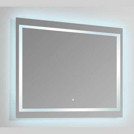 Miroir Rectangle lumineux salle de bain - Rétro-éclairage LED - 120x80 cm -  Connec\'t 120