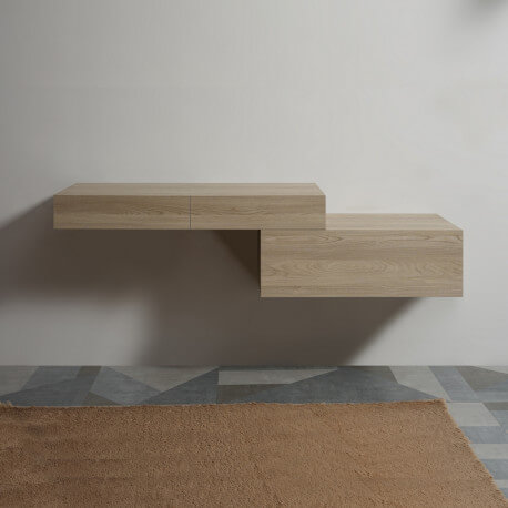 Pack Plan sous vasque 120 cm Tendance + Meuble 1 Tiroir 90 cm Tendance|Rue du Bain
