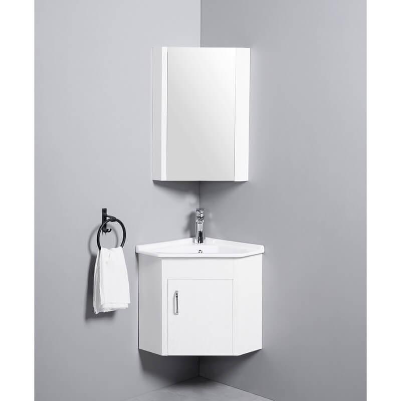 Meuble Suspendu Vasque Céramique Corner Lave Main D Angle