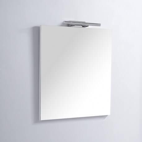 Miroir de salle de bain Rectangle - 60x80 cm - Lampe LED - Classic 60   Rue du Bain