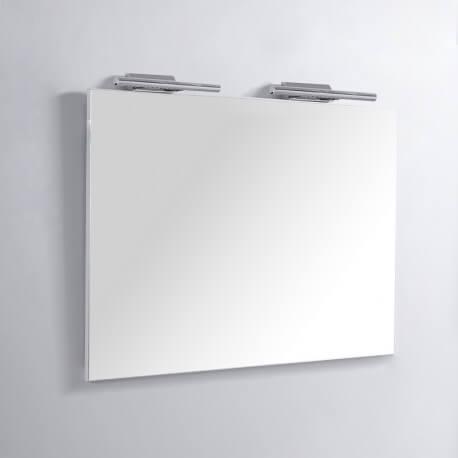 Miroir Rectangle de salle de bain - Lampes LED - 120x80 cm - Classic 120 | Rue du Bain