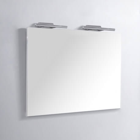 Miroir Rectangle de salle de bain - Lampes LED - 120x80 cm - Classic 120