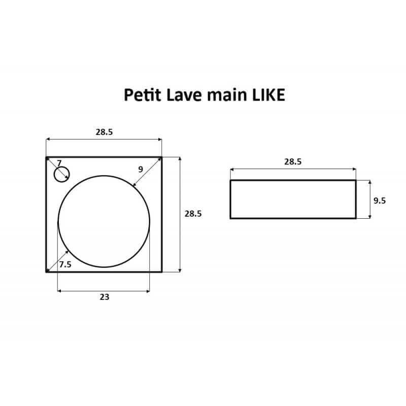 Petit lave main carr suspendu 28x28x16 cm c ramique blanc - Petit lave main ...
