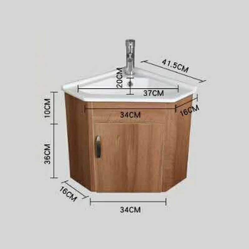 Meuble suspendu vasque céramique, Corner-Lave main d\'angle ...