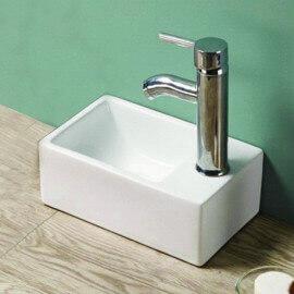 Petit lave main céramique Essento droite | Rue du Bain