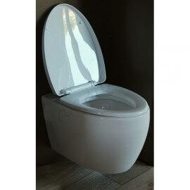 Abattant wc duroplastic blanc noir et kit de fixations wc - Abattant wc noir et blanc ...