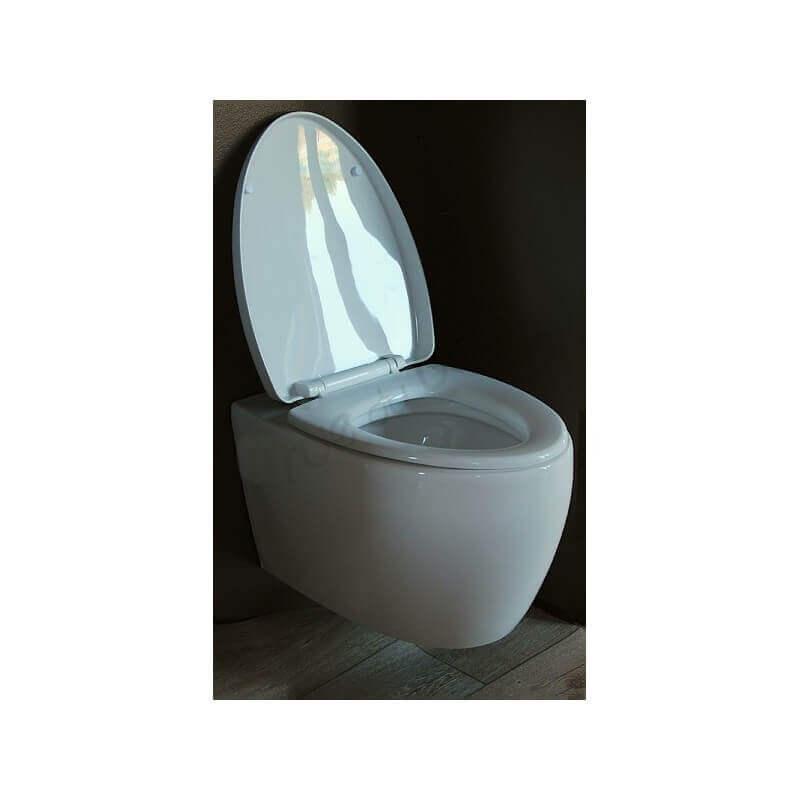 abattant blanc pour wc look accessoires wc rue du bain. Black Bedroom Furniture Sets. Home Design Ideas