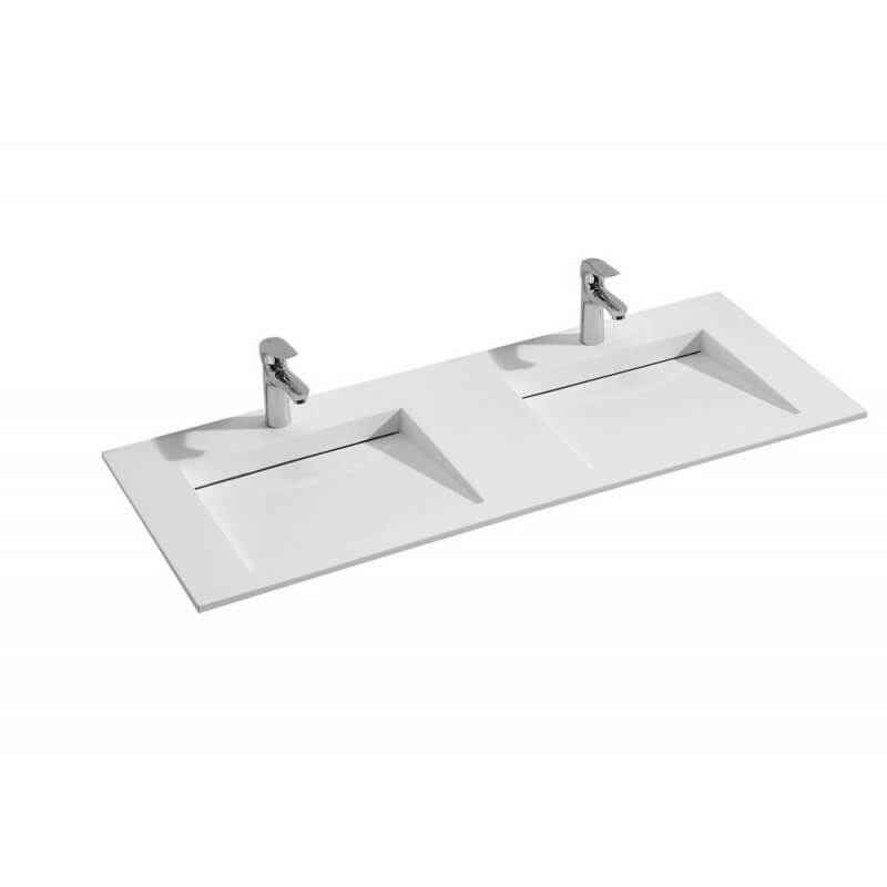 Vasque double robinet double vasque poser lavabo for Double vasque 110 cm