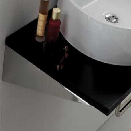 paire equerre de fixation lavabo 40 x8 cm inox bross rue du bain. Black Bedroom Furniture Sets. Home Design Ideas