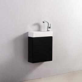Meuble Lave main - Noir - Dark - 38x15 cm - Minimalist