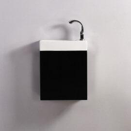 Meuble Lave main - Noir - Dark - 38x14 cm - Minimalist | Rue du Bain