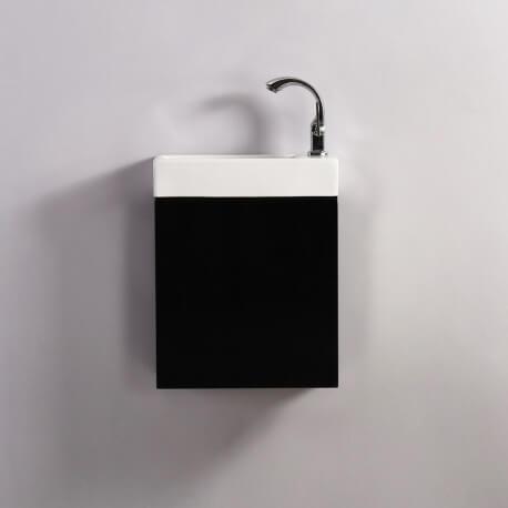 Meuble Lave main - Noir - Dark - 38x14 cm - Minimalist   Rue du Bain